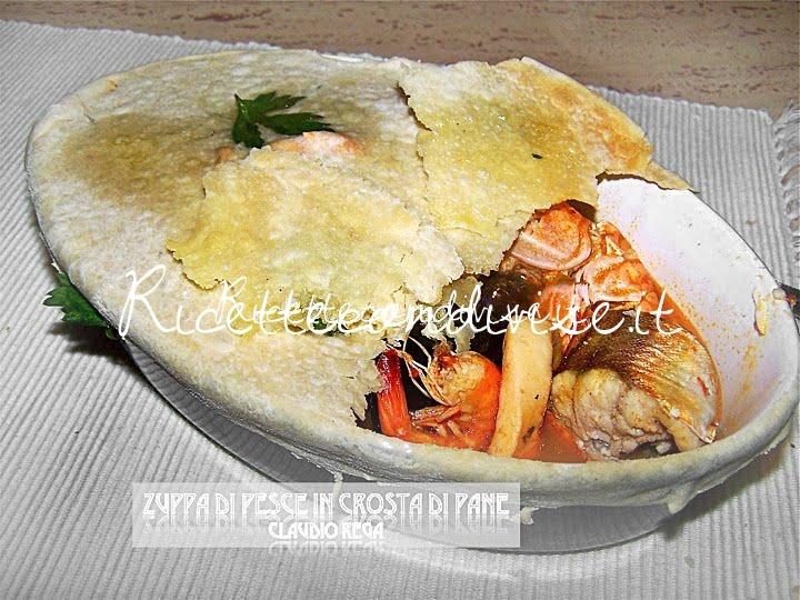 Zuppa di pesce in crosta di pane di Claudio Rega