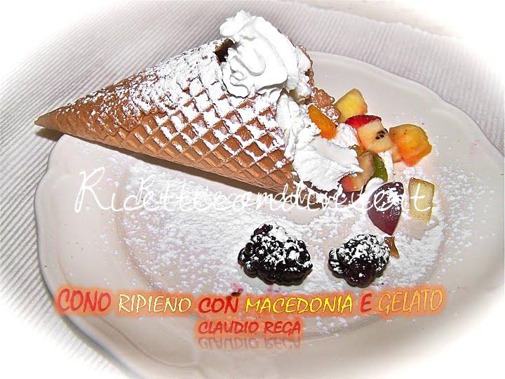 Cono gelato al piatto di Claudio Rega