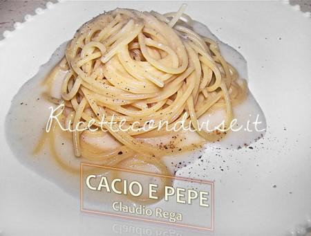 Ricetta Pasta cacio e pepe di Claudio Rega