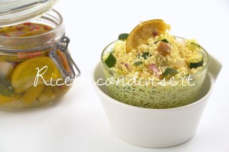 Ricetta Couscous con zucchine, cipolla e lime confit di Manlio Midori