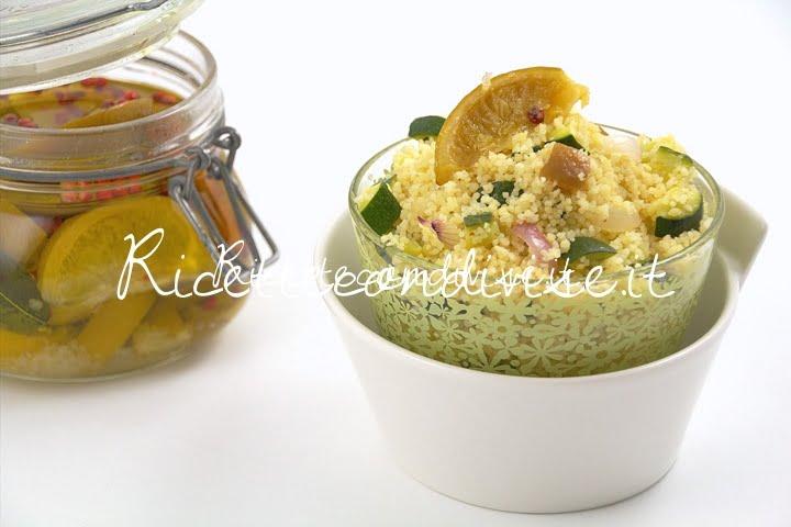 Couscous con zucchine, cipolla e lime confit di Manlio Midori