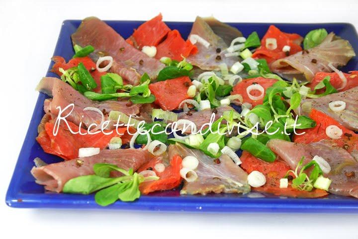 Particolare Antipasto di tonno e salmone affumicati e marinati di Dany - Ideericette