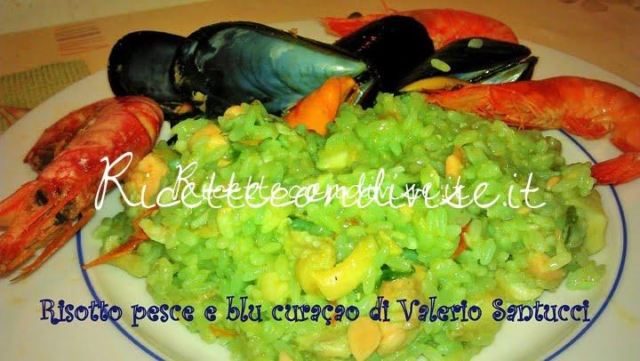 Risotto pesce e blu curaçao di Valerio Santucci
