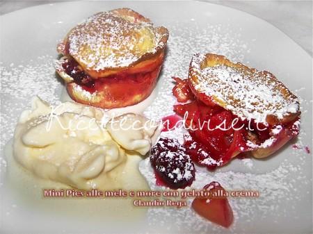Ricetta Mini pies alle mele e more di Claudio Rega