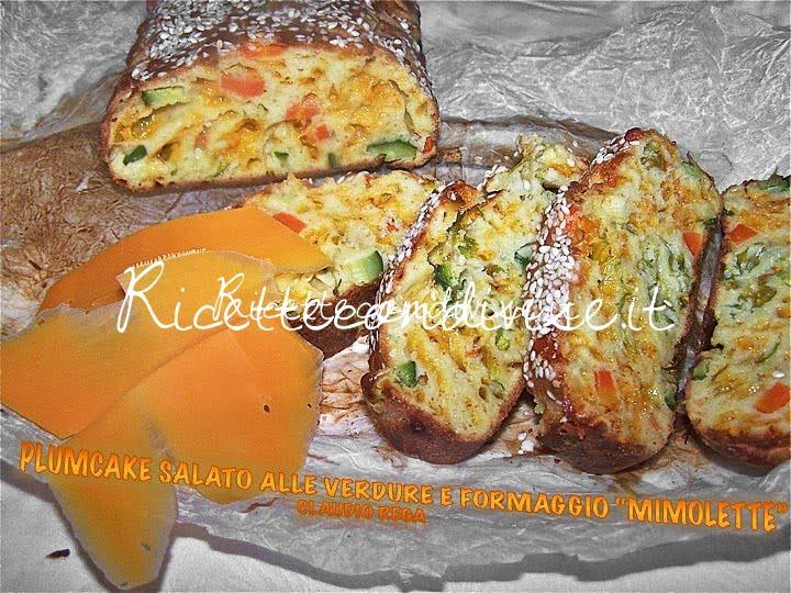 Plumcake salato con verdure e formaggio mimolette di Claudio Rega