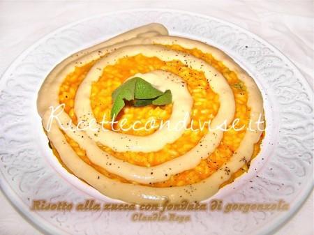 Risotto zucca e crema di gorgonzola di Claudio Rega