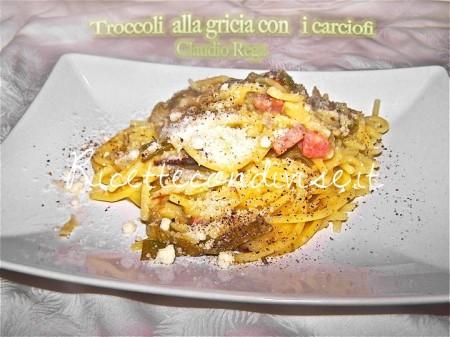 Ricetta Troccoli alla Gricia con carciofi di Claudio Rega