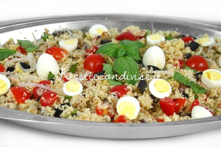 Primo piano cous cous con verdure e uova di quaglia di Dany - Ideericette