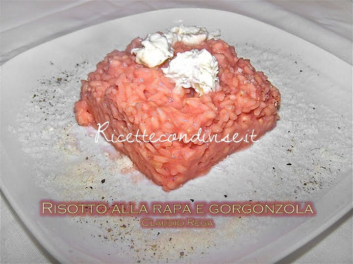 Risotto alla rapa rossa con gorgonzola dolce di Claudio Rega