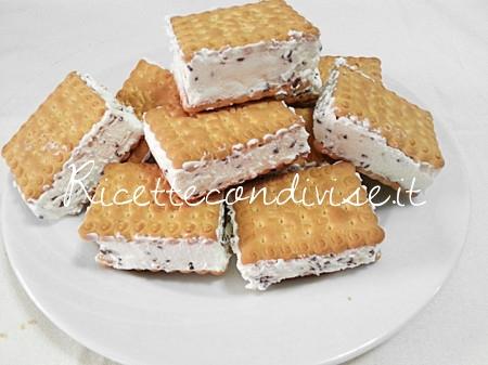 Biscotto gelato alla stracciatella di Teresa Mastandrea