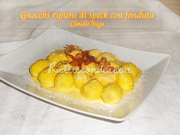 ricetta gnocchi ripieni di speck con fonduta di claudio rega
