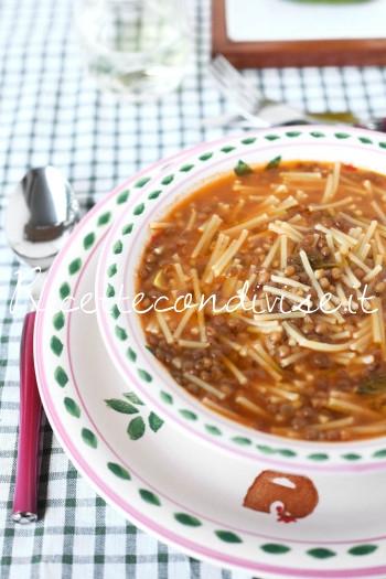 Minestra di lenticchie con la pasta di Dany - Ideericette