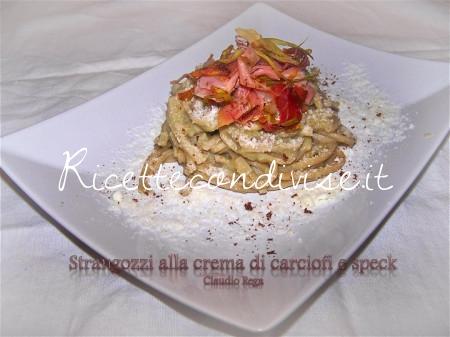 Strangozzi alla crema di carciofi e speck di Claudio Rega