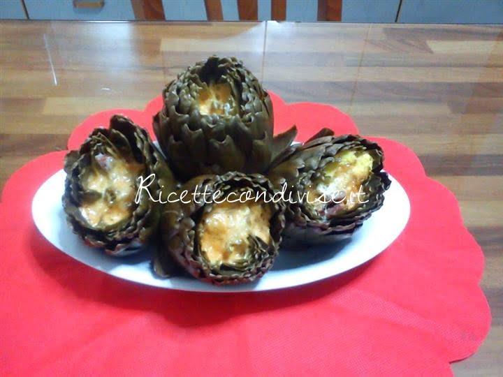 ricetta carciofi ripieni di pinarosa