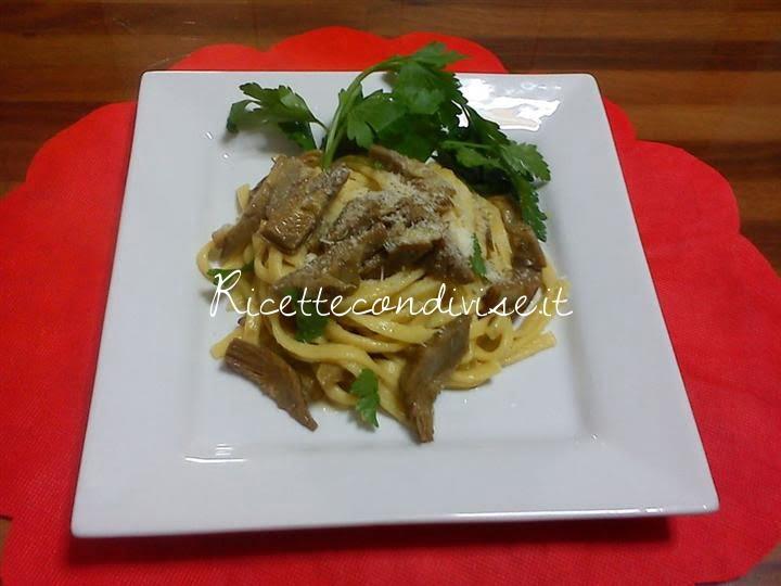 ricetta scialatielli con carciofi di pinarosa