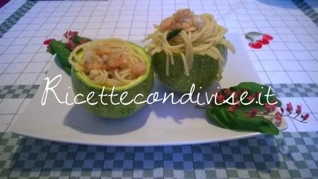 spaghetti gamberi cavolfiore