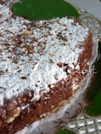 torta fredda cioccolato e biscotti