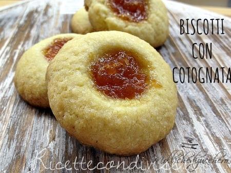 ricetta biscotti di frolla con cotognata