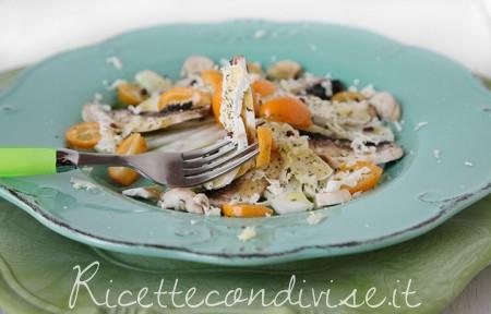 Insalata sfiziosa con Casutin Occelli, finocchi, funghi champignon e mandarini cinesi di Dany - Ideericette