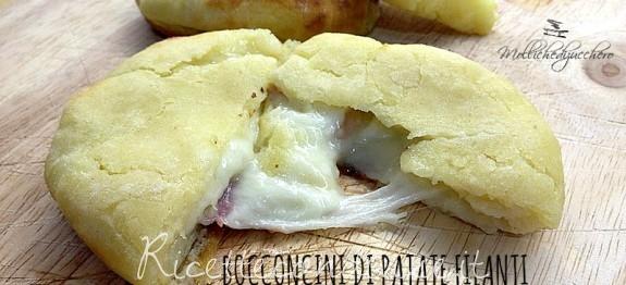 schiacciatine di patate filanti