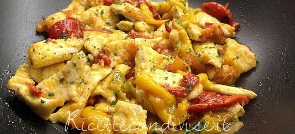 pollo con peperoni ricetta veloce