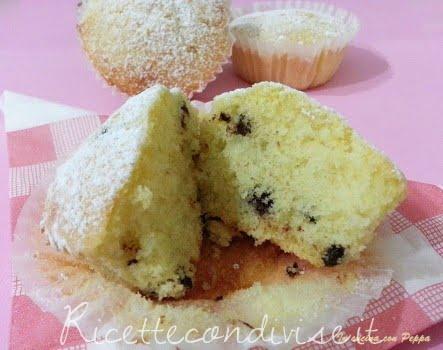 ricetta muffins con gocce di cioccolato