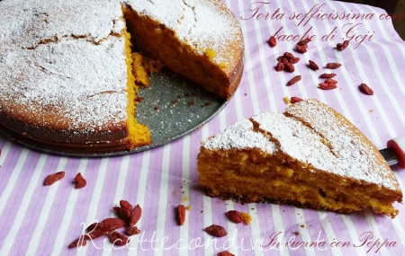 ricetta torta con bacche di goji