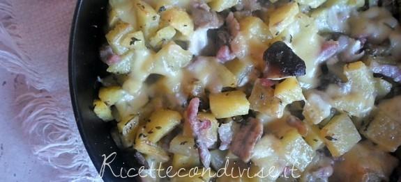 Patate, funghi e pancetta