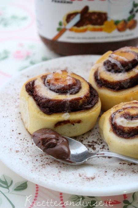 Ricetta girelle di pan brioche con Nutella
