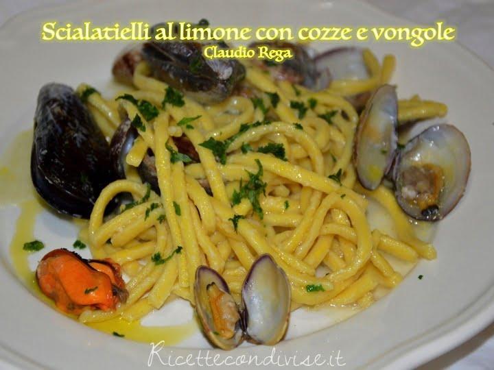 Spaghetti al limone con cozze