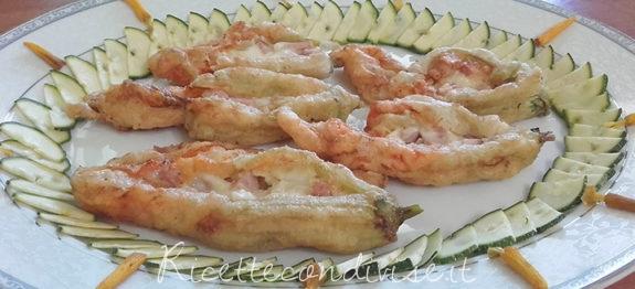 Fiori di zucca in pastella ripieni di mozzarella e prosciutto di Franco Graziano