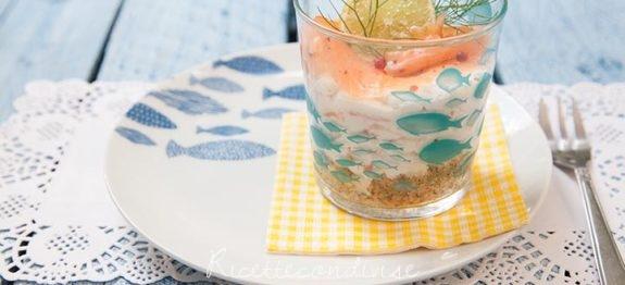 Cheesecake salata al salmone - tema pesci